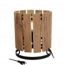 Wooden lamp Kelmo, D25cm, H30cm, natural